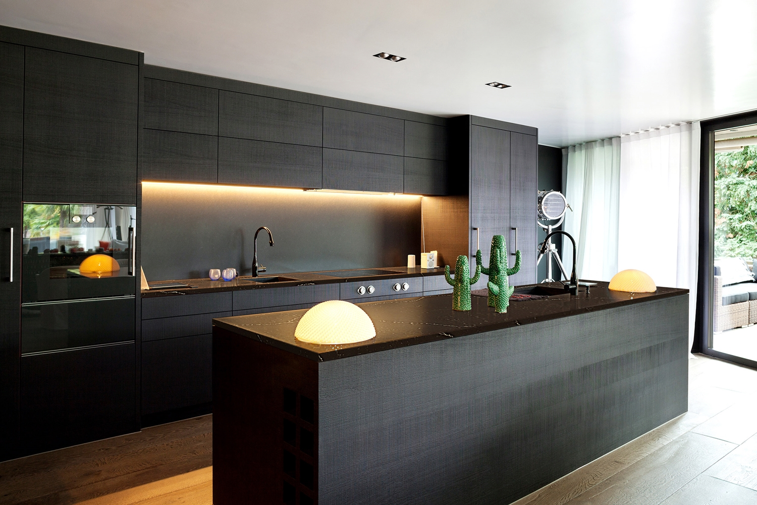 Modern kitchen cabinets los angeles ajemco inc for Kitchen set hitam